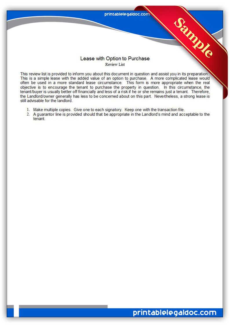 Lease Option Forms
