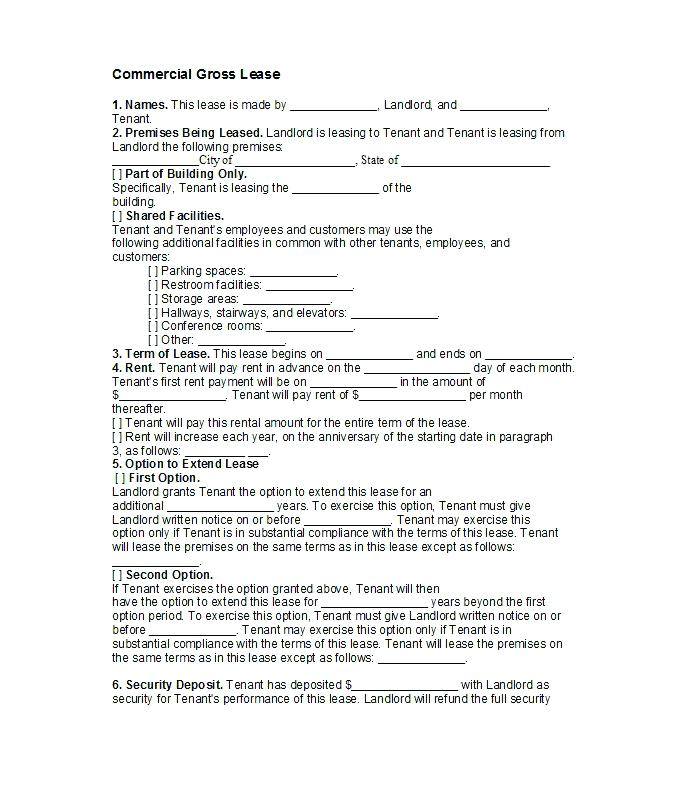 Lease Option To Buy Contract Form Free
