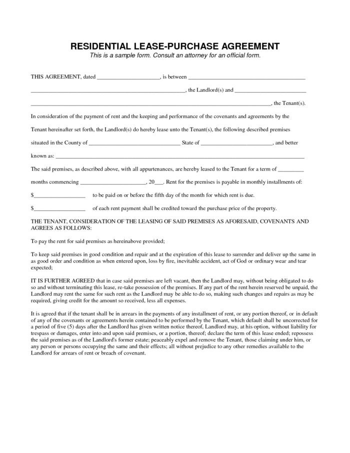 Free Lease To Purchase Option Agreement Form Form Resume Examples Rmgyo5qyg9 Lease To Purchase Option Agreement Form Download