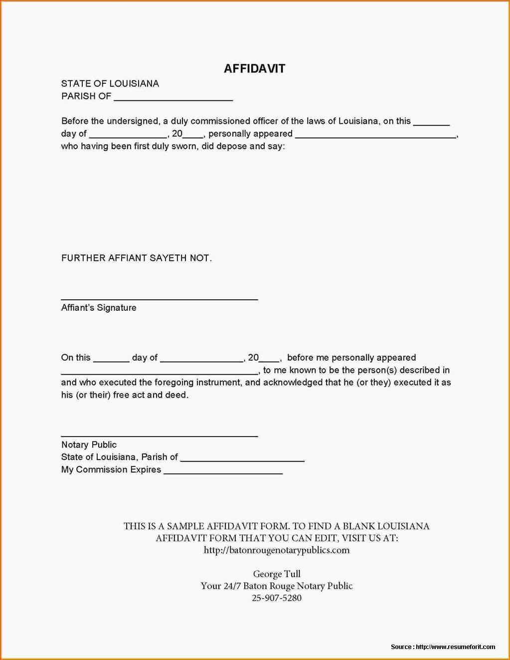 Legal Forms Affidavit Of Desistance