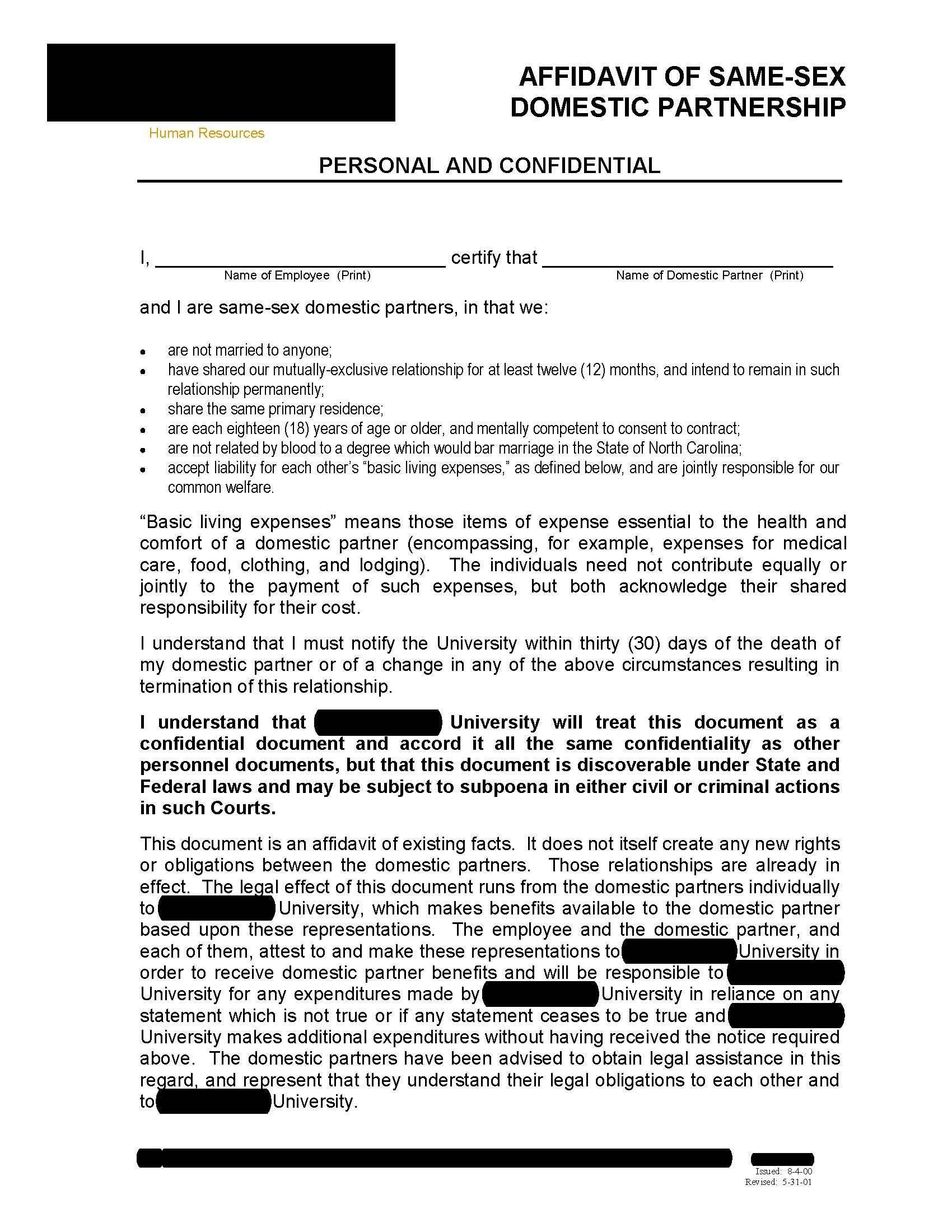 Legal Forms Affidavit Of Support