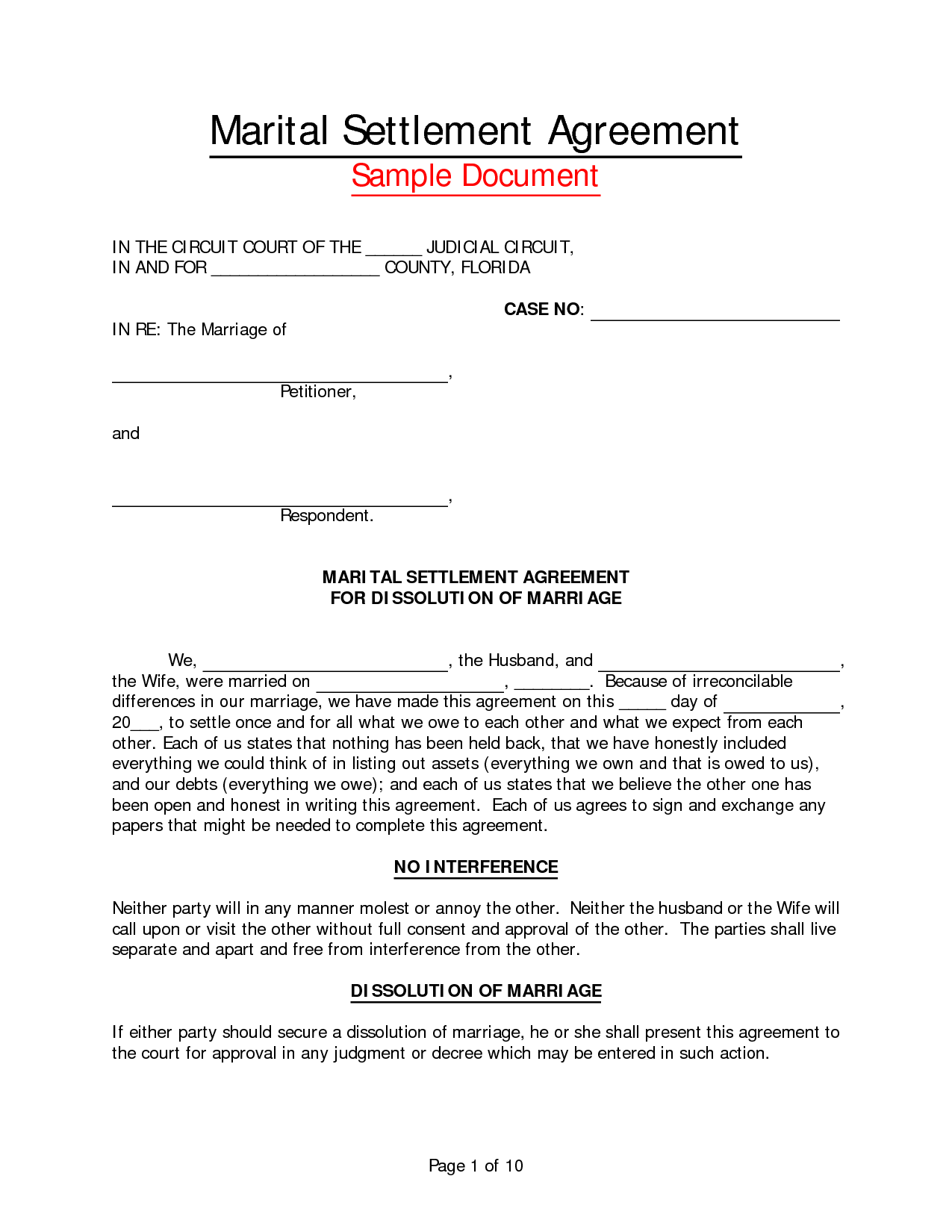 Legal Separation Agreement Sample Philippines