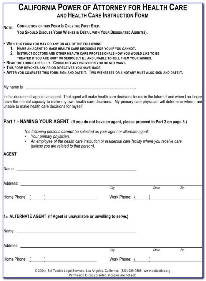 Legalzoom Poa Forms