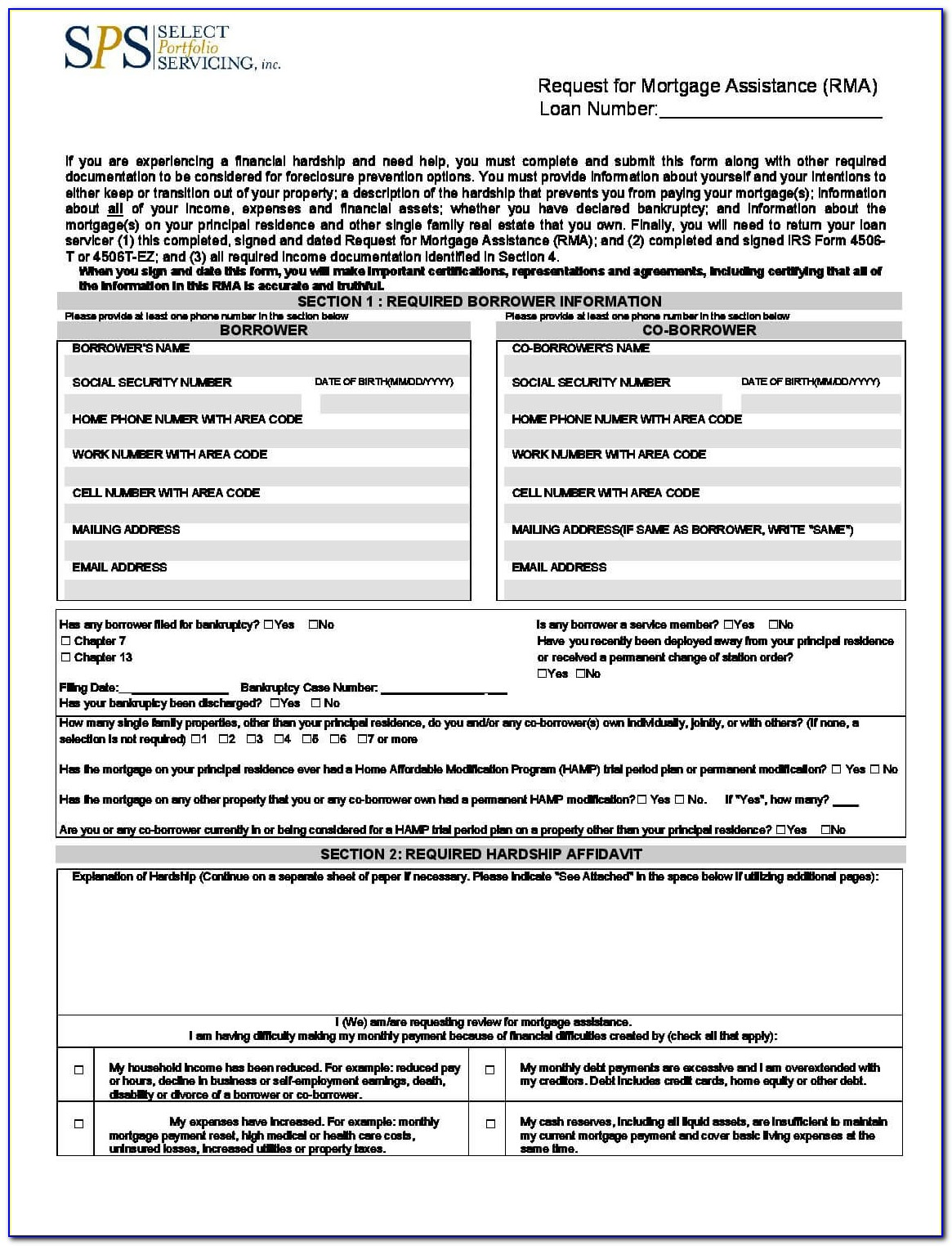 Loan Modification Paperwork