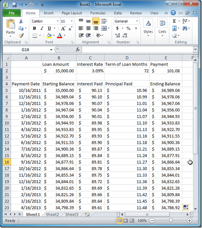 Loan Payoff Amount Formula