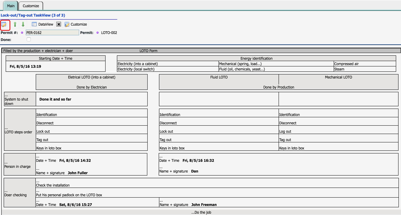 Lockout Tagout Certification Form