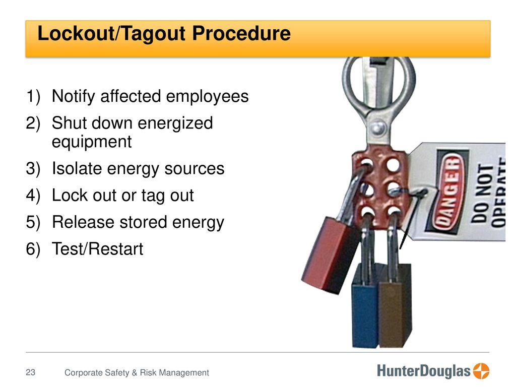Lockout Tagout Procedures Test