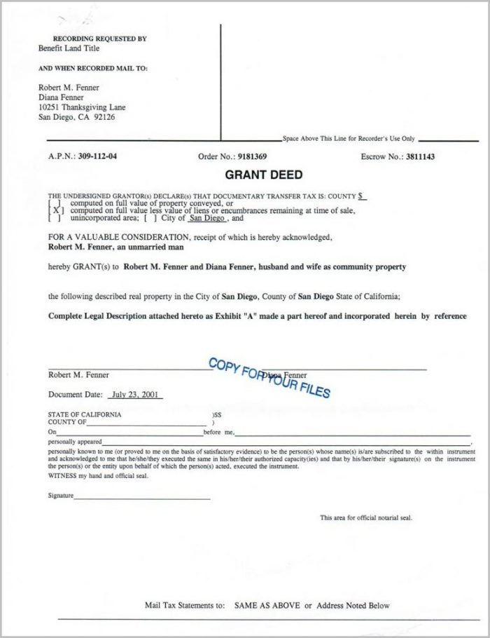 Los Angeles County Correction Deed Form
