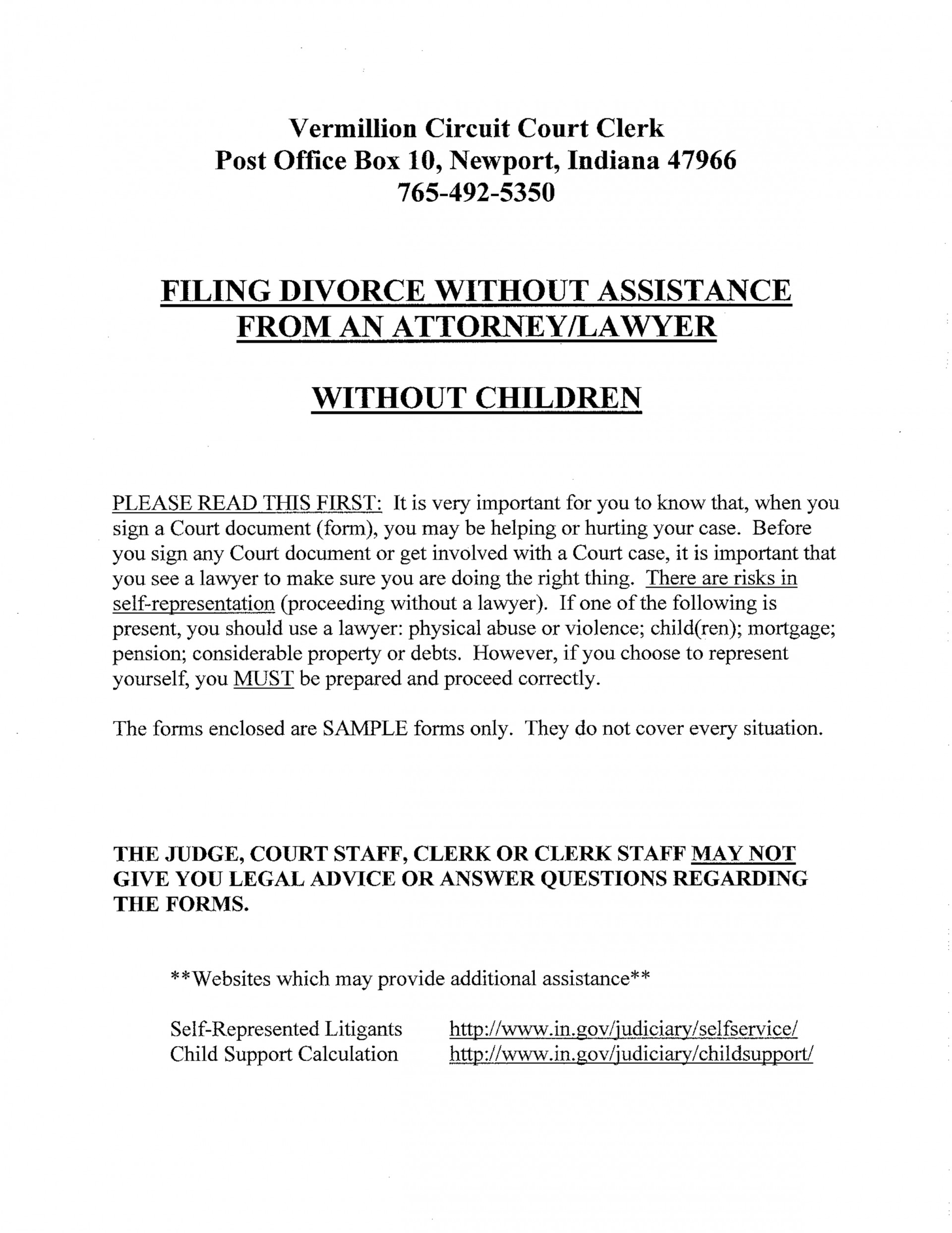 Marion County Indiana Divorce Filing