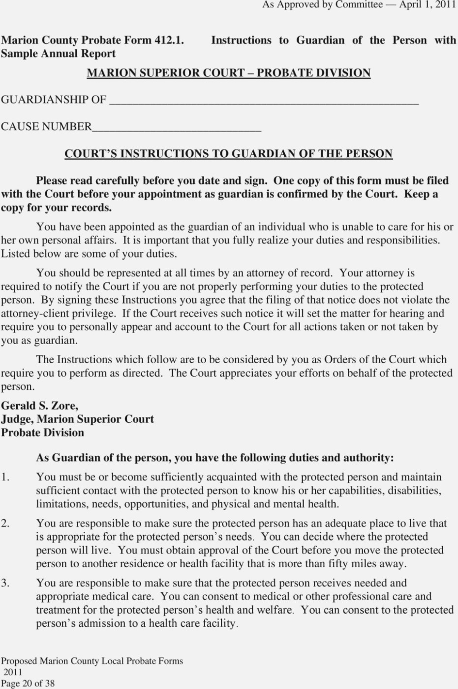 Marion County Probate Court Forms