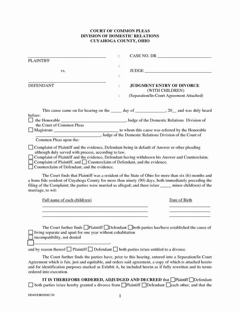 Wisconsin Divorce Financial Disclosure Form New Georgia Separation Agreement Form Elegant Georgia Lease Agreement