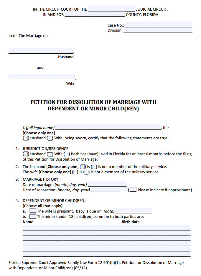 Marriage Annulment Forms Michigan