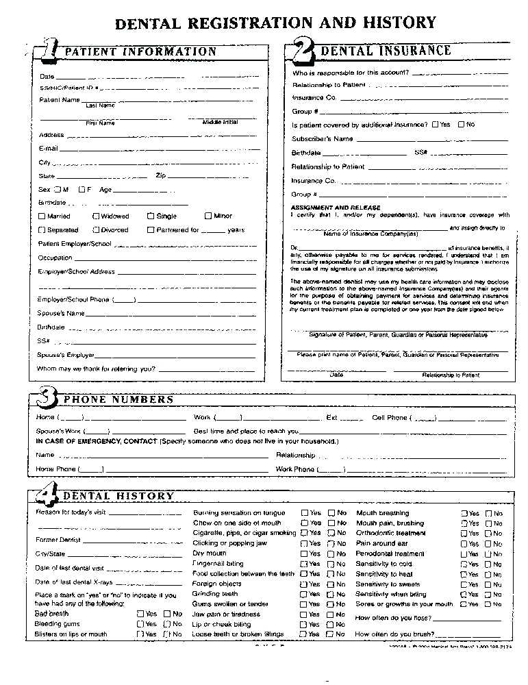 Massage Therapy Health History Intake Form