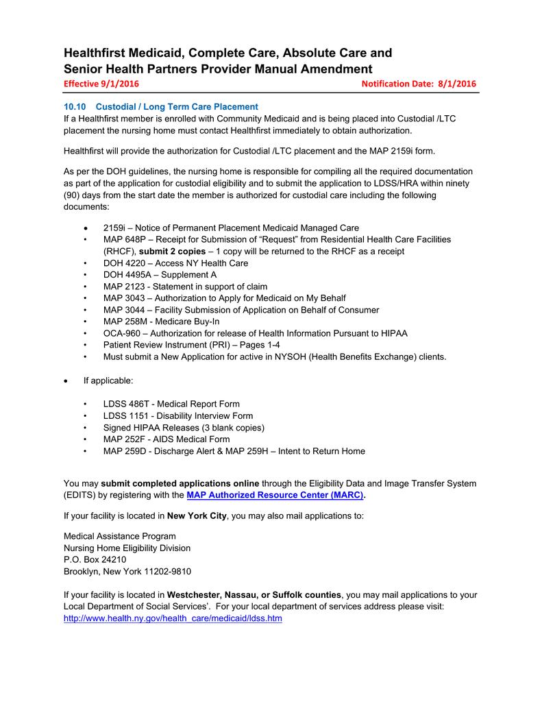 Medicaid Application Form For Nursing Home
