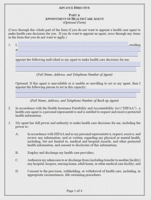 Medical Advance Directive Form Maryland