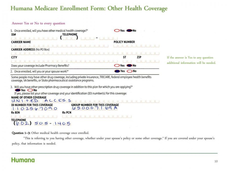 Medicare B Application Forms