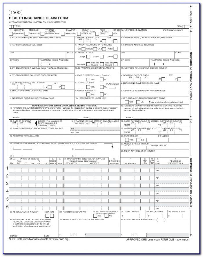 Medicare Cdbs Bulk Billing Forms