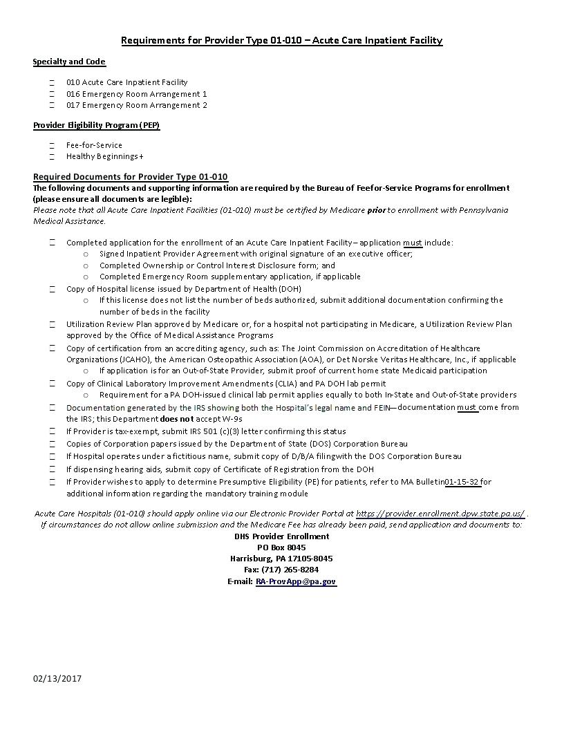 Medicare Enrollment Forms For Providers