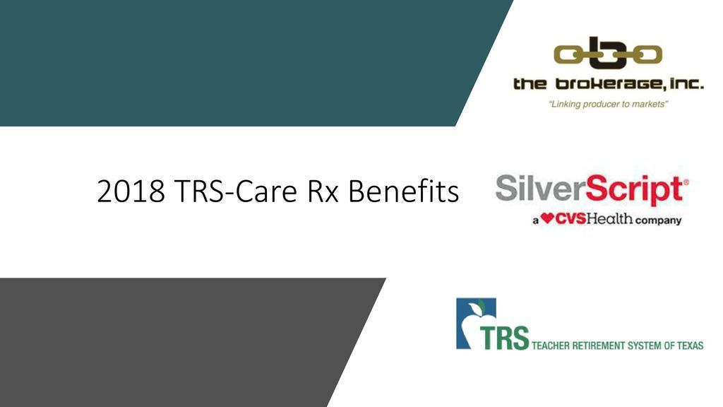 2018 Trs Care Rx Benefits