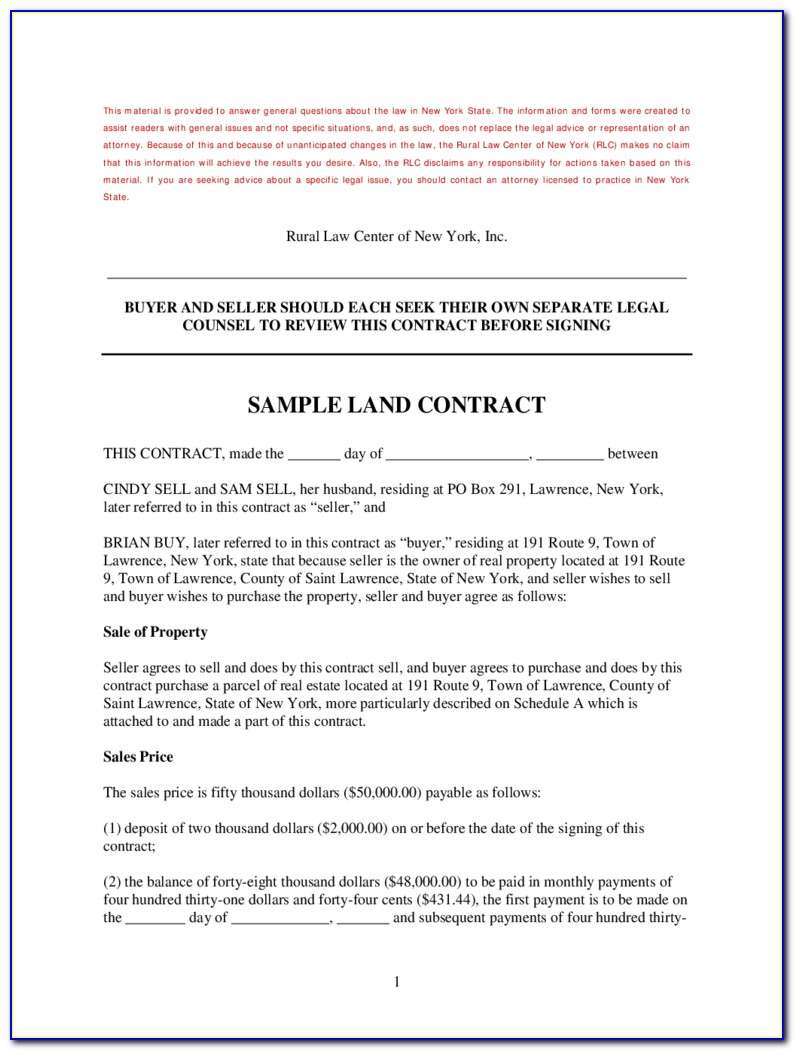 Memorandum Of Land Contract Form Michigan