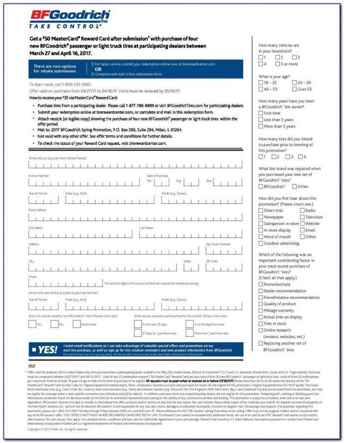 Michelin Rebate Form November 2017