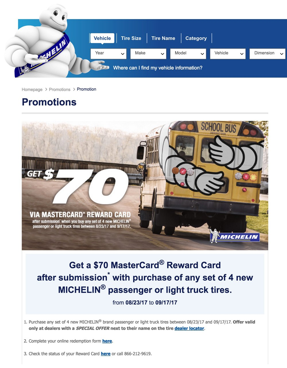 Michelin Tires 70 Rebate Form
