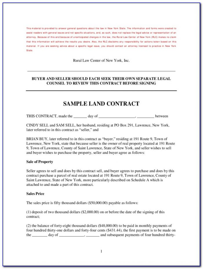 Michigan Land Contract Forfeiture Forms
