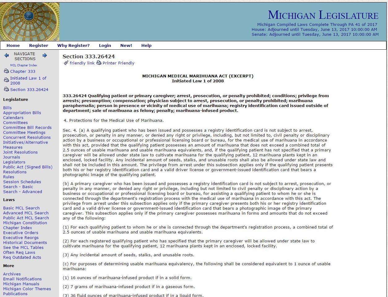 Michigan Medical Marihuana Caregiver Application Form