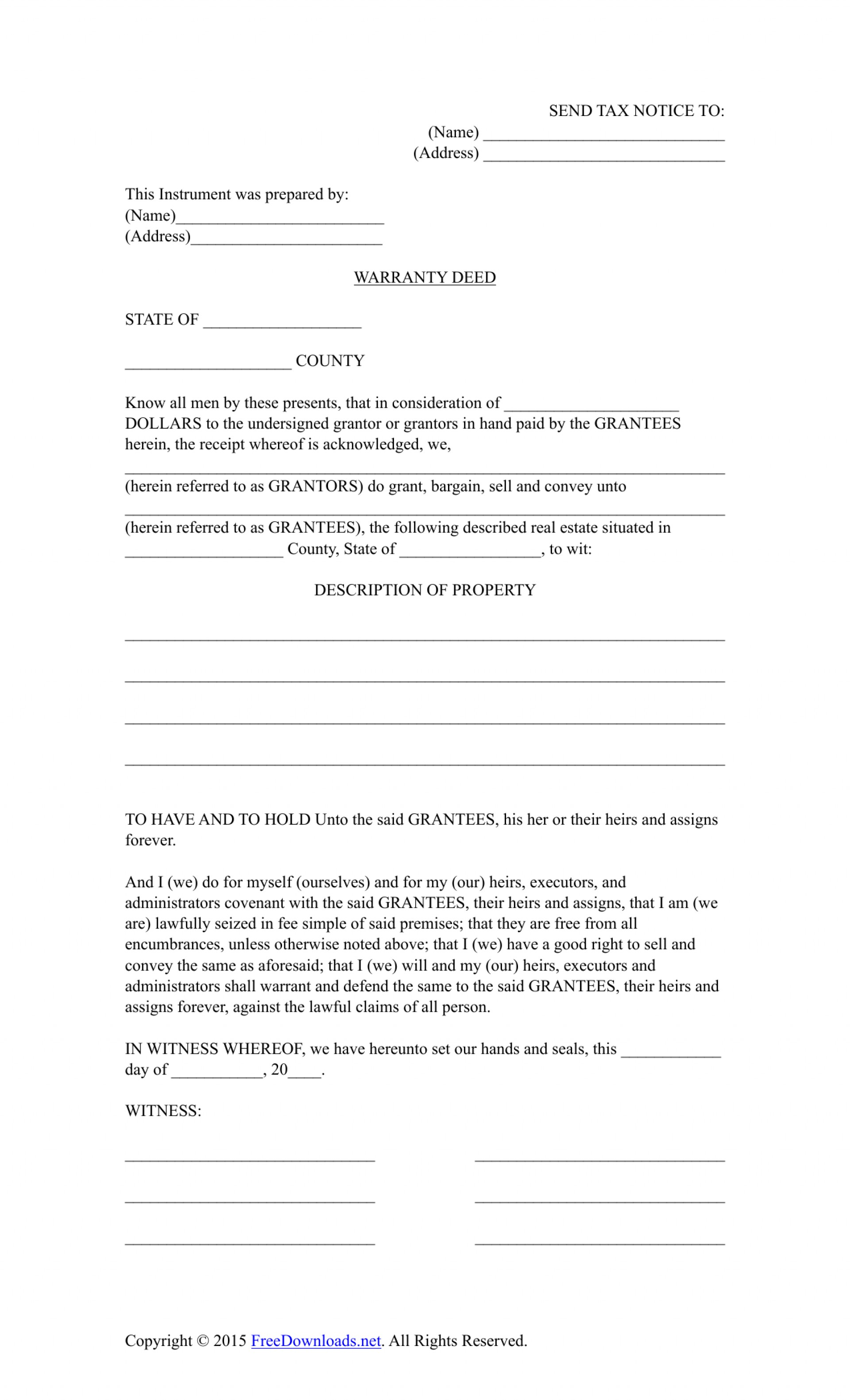 Michigan Warranty Deed Form Pdf