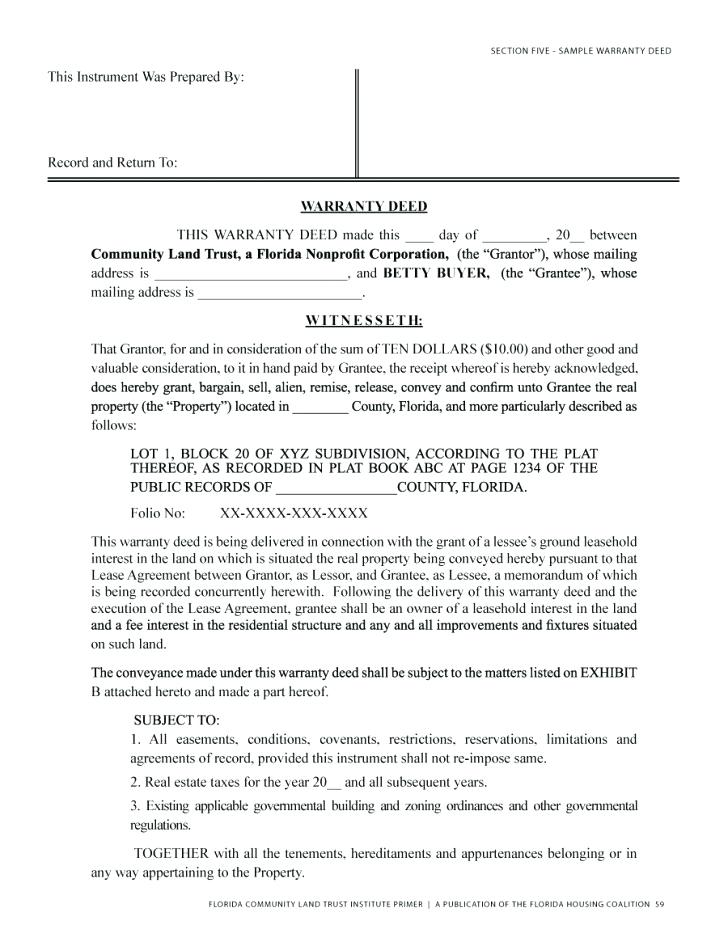 Michigan Warranty Deed Forms Free