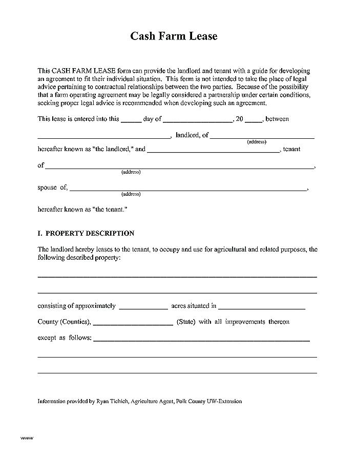 Minnesota Farm Lease Agreement Form