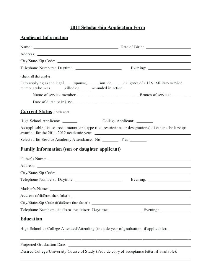 Minority Scholarship Application Form Download Pdf
