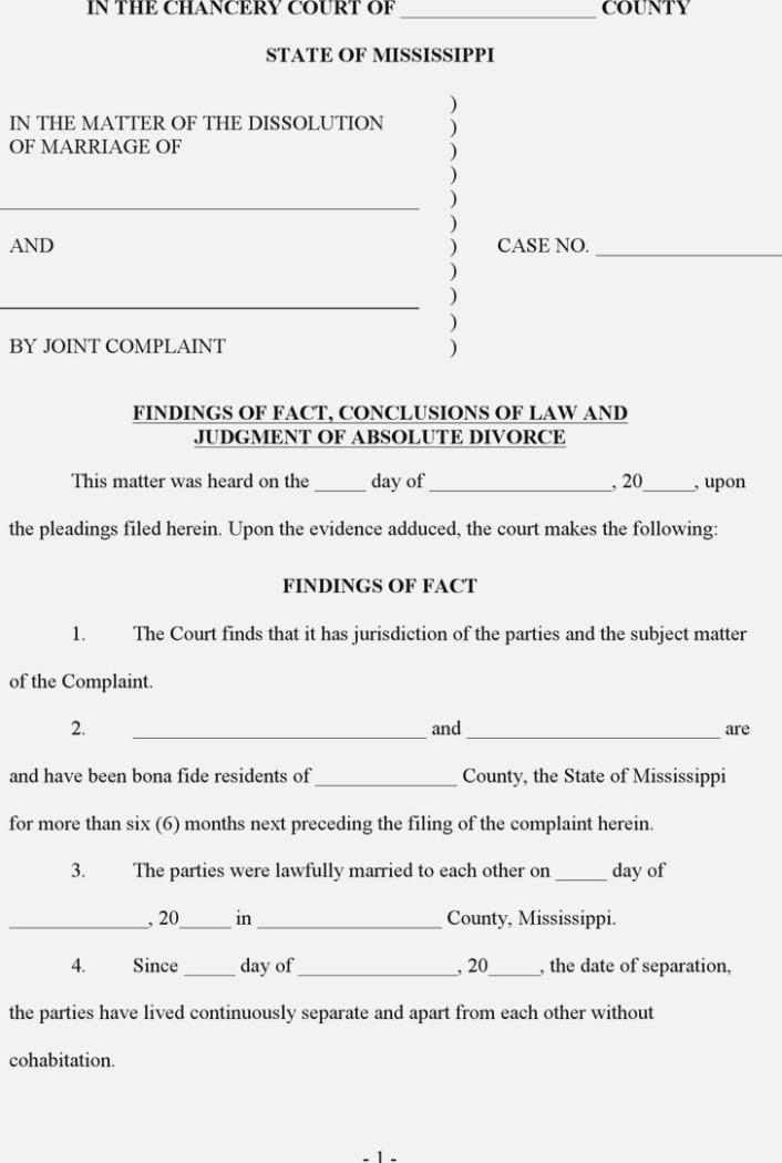 Mississippi Divorce Filing Fees