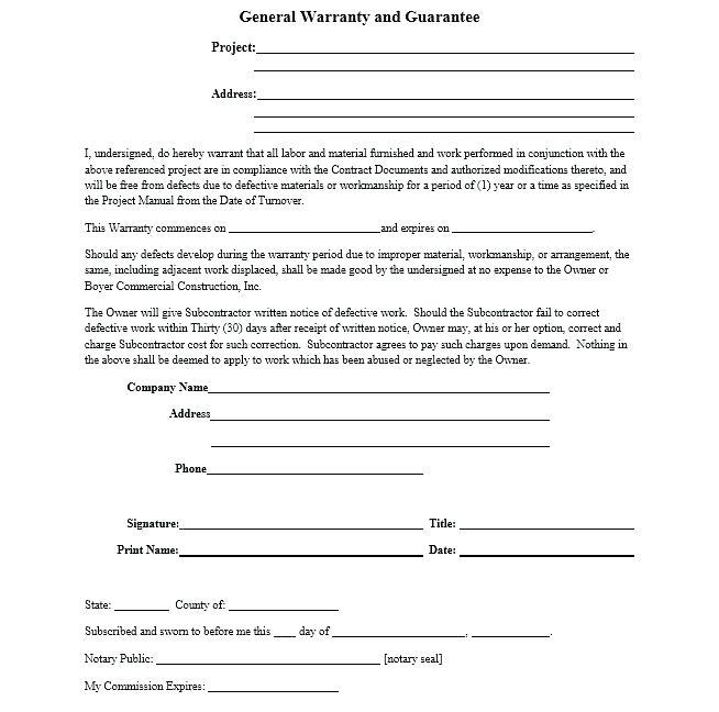 Missouri General Warranty Deed Form Free