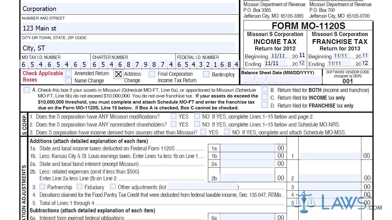 Mo.gov Tax Return