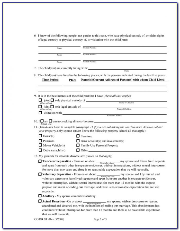 Montgomery County Ny Divorce Forms