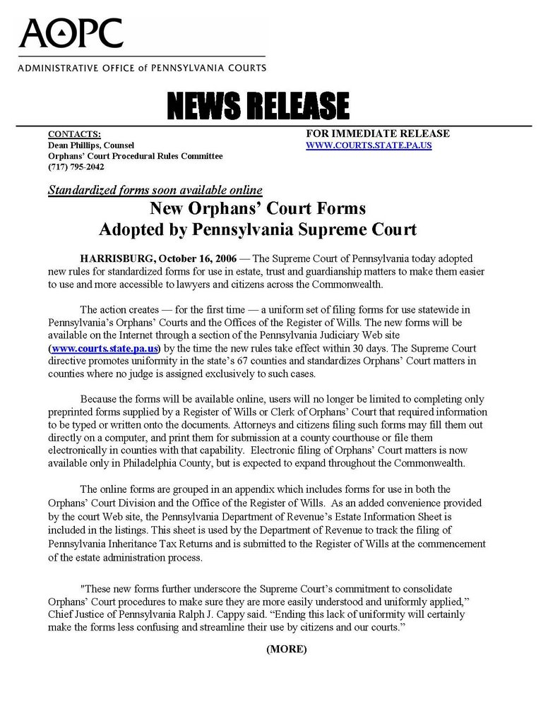 Montgomery County Probate Court Forms