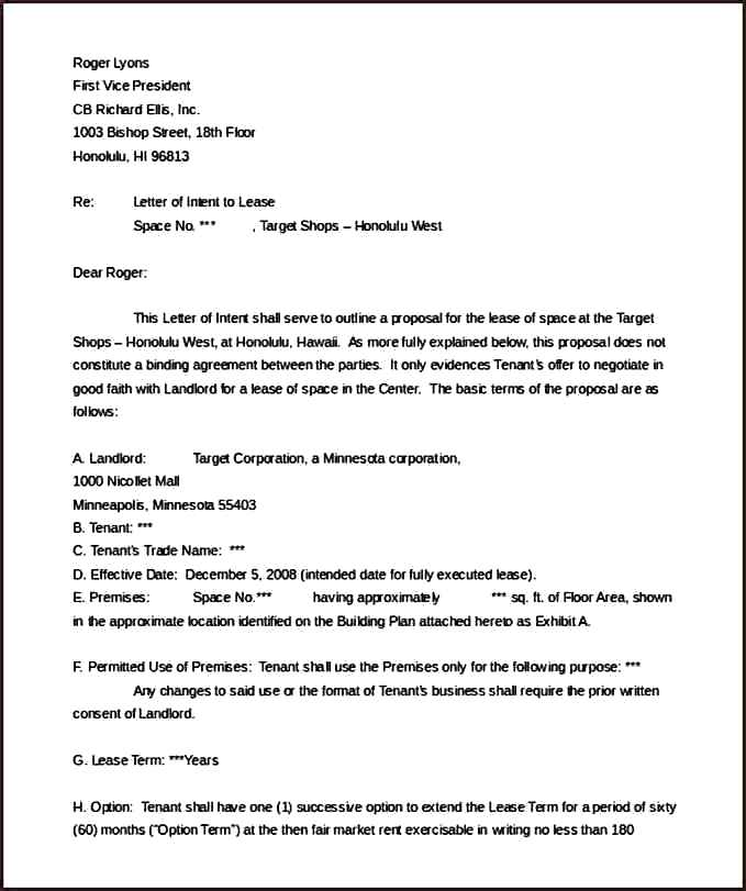 Month To Month Lease Sample Letter