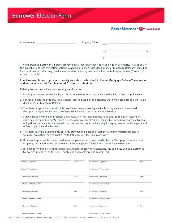 Mortgage Loan Assumption Agreement Form