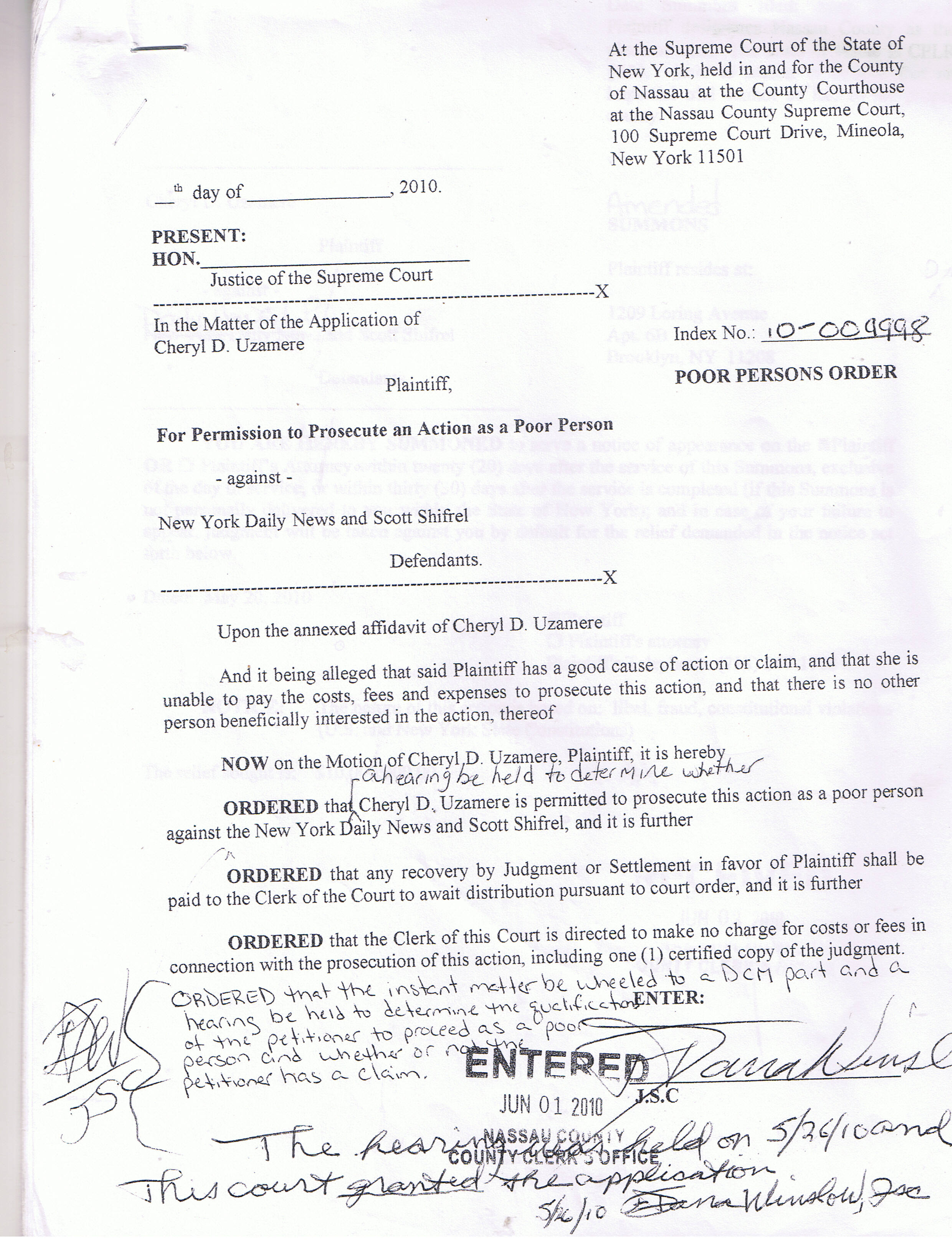 Nassau County Supreme Court Divorce Forms