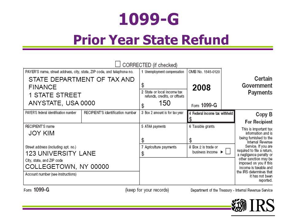 Nc Form 1099 G