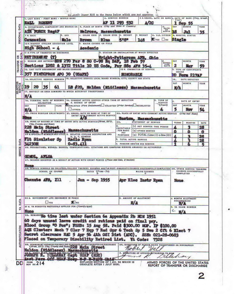Need Copy Of Dd214 Form