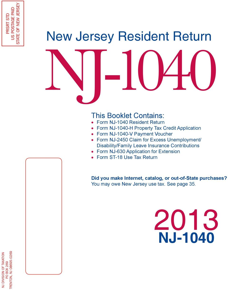 New Jersey Disability Tax Forms