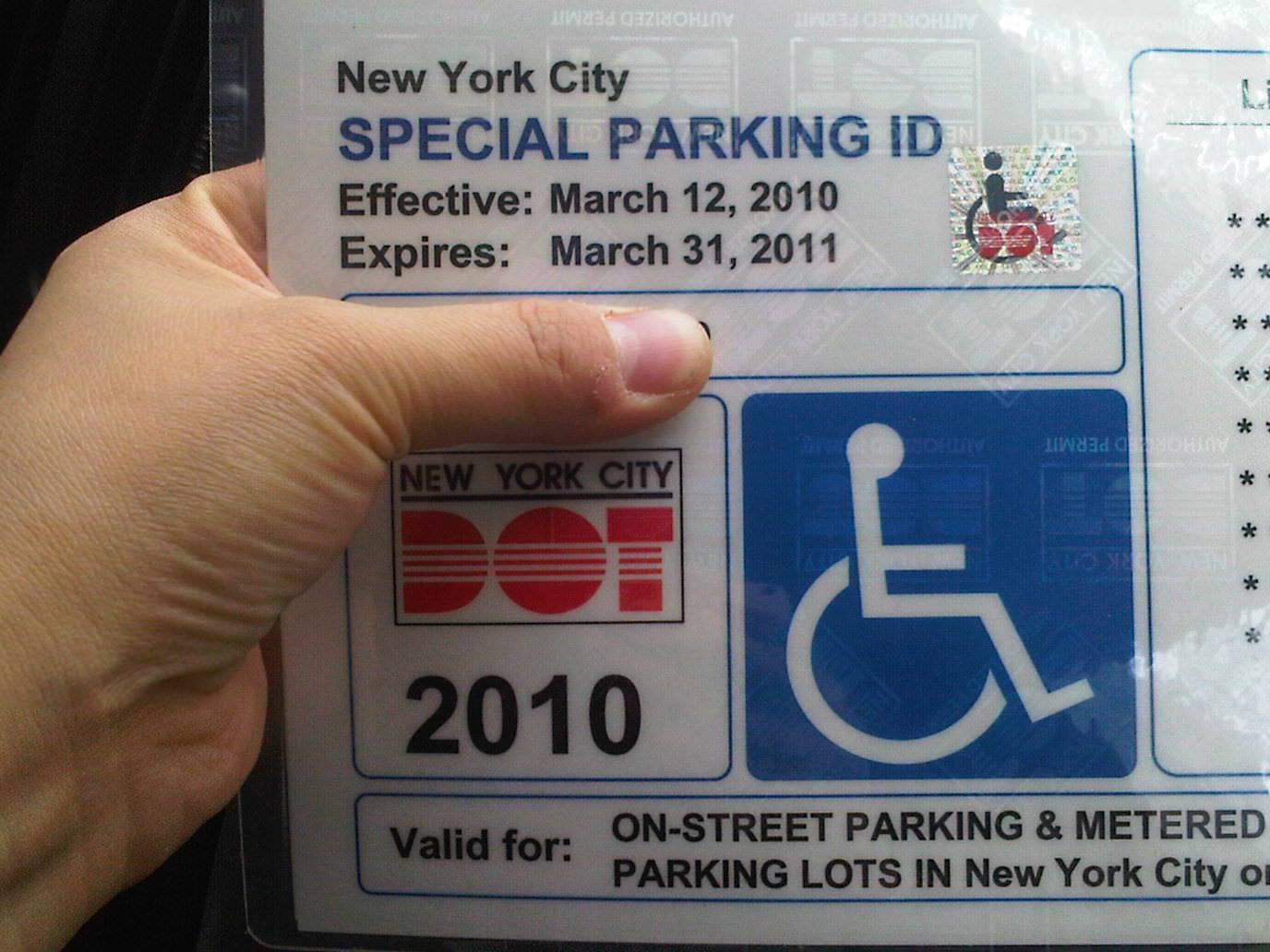 New York State Disability Parking Form