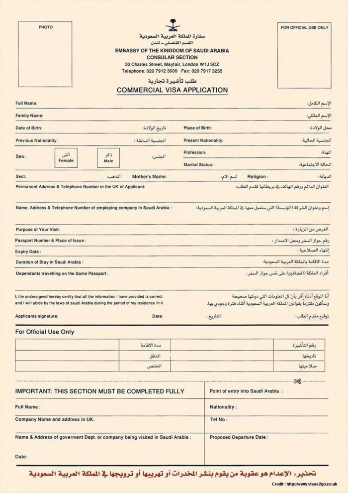 Nigeria Visa Application Form Pdf
