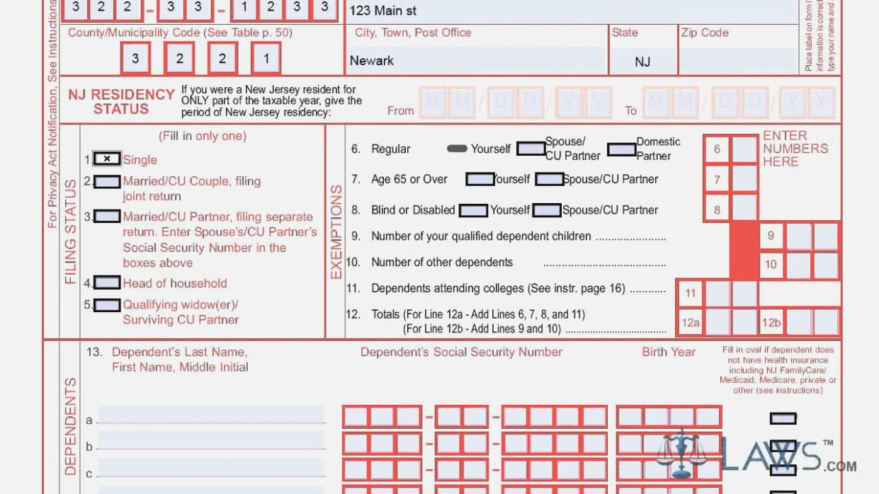 Nj 1040 Tax Form 2016