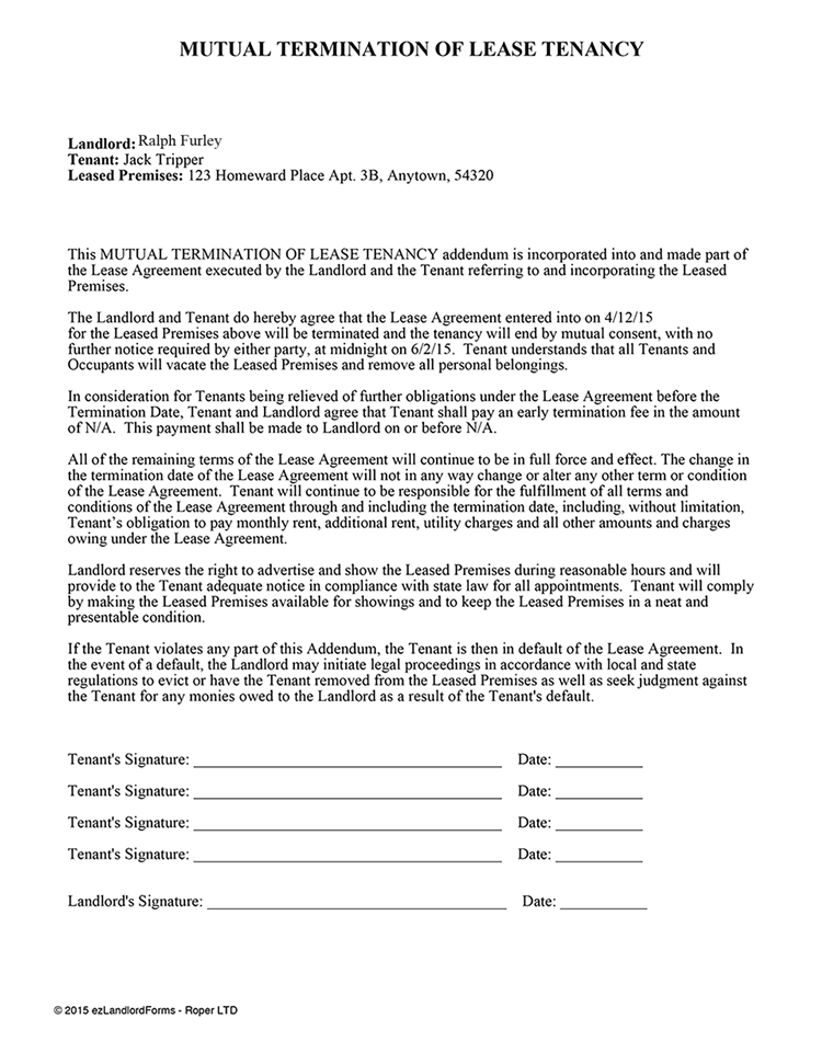 No Landlord Consent Form