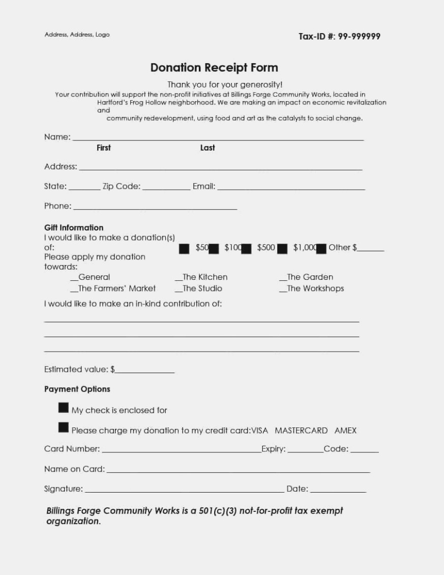 Non Profit Application 501c3