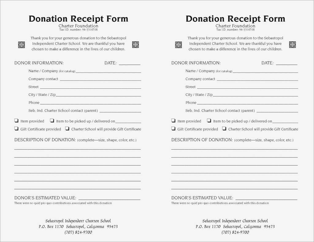 Non Profit Sales Tax Exempt Form Awesome 501 C 3 Donation Receipt Template Ideas