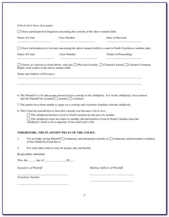 North Carolina Emergency Custody Forms